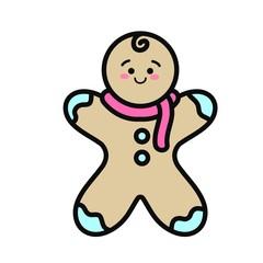Isolated cookie cartoon design