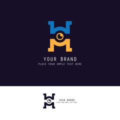 letter H vision logo