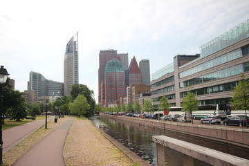 Skyline of The Hague, the Netherlands