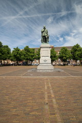 Statue Willem of Orange in the center of The Hague