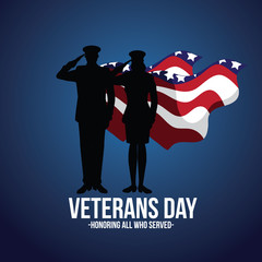 Veterans Day illustration. EPS 10 vector.