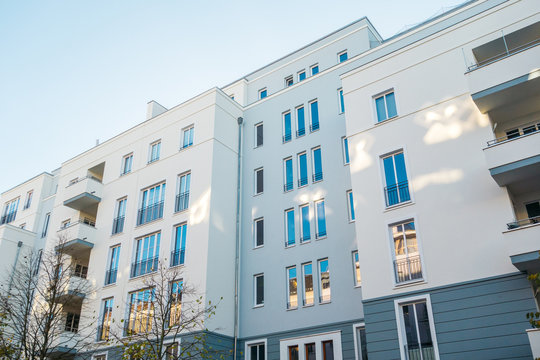 modern big apartment complex in berlin