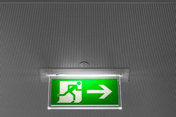 Schild Notausgang Sicherheit