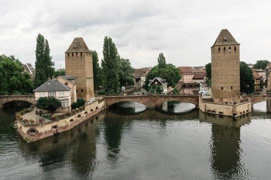 Strasbourg barrage vauban near a canal in France
