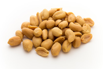 Peeled peanuts on the isolated background. Fototapete