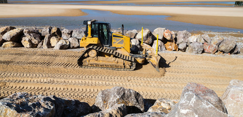 bulldozer en action