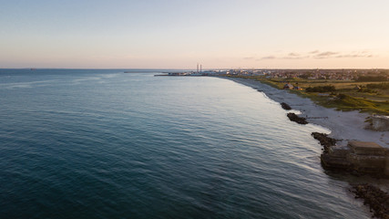 beaches along the Grenen coast photographed by a drone