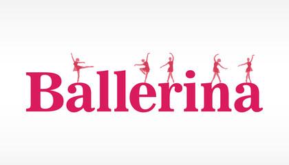 pink ballerina banner