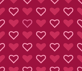 Heart background. Seamless vector pattern.
