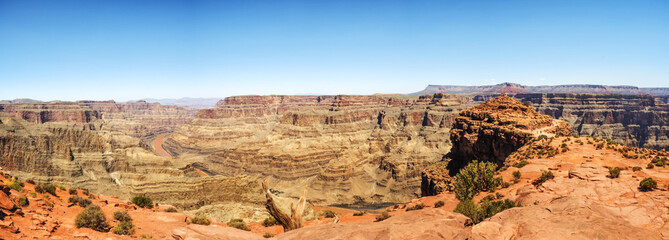 Panorama: Eagle Point - Grand Canyon West Rim, Arizona, AZ, USA