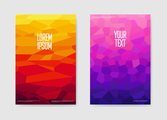 Abstract Poster Gradient Shapes Background. Geometric Brochure Template. Banner Identity Card Design. Vector illustration