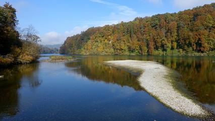Le Rhin en automne - Suisse