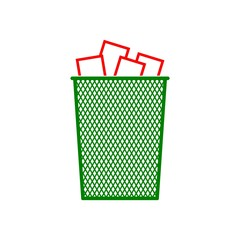 Vector Recycle Bin Trash and Garbage icon
