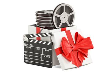 Film gift concept, 3D rendering