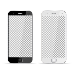 Two phones - realistic device - stock vector