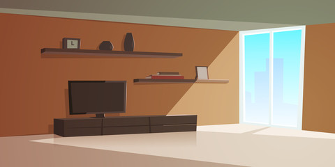 Cartoon Interior Modern Living Room