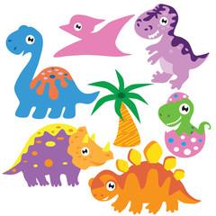 Dinosaur vector cartoon illustration