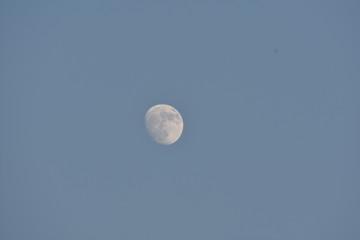 beautiful moon in dark background