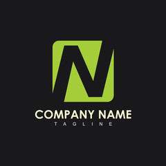 N Company Logo Vector Template Design