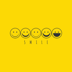 Smile Emoticon Logo Vector Template Design