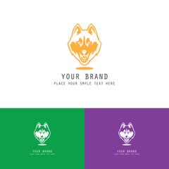 wolf icon logo