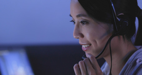 Customer services working at night