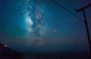 Milky way over Bixby bridge, California