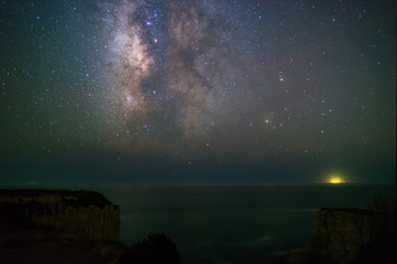 Milky way over the Pacific coast, California
