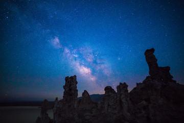 Milky way over the Tufa, Mono lake, California