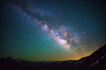 Milky way over Yosemite national park