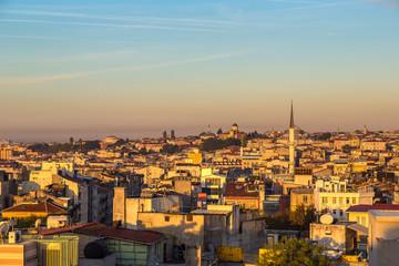 Istanbul sunset panorama