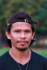 Jobless asian man portraiture
