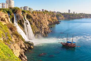 Duden waterfall in Antalya, Turkey