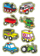 cute vehicle transportation cartoon