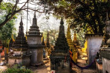 gravestones near angkor wat