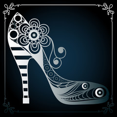 Graphic illustration with decorative shoes 15