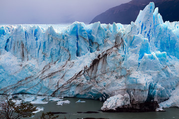 "On the glacier formed Calgaspors - ""penitent snow"""