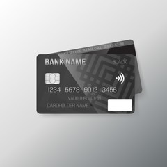 Illustration of Realistic Vector Credit Card Template