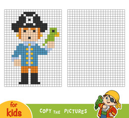 Copy the picture, education game for children, Pirate