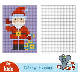 Copy the picture, education game, Santa Claus