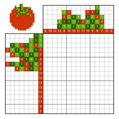 Paint by number puzzle (nonogram), Tomato