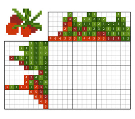 Paint by number puzzle (nonogram), Cranberries