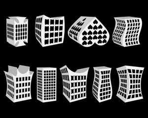 different paper houses