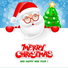 Santa Claus and blank sheet