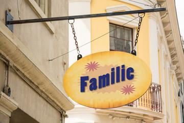 Schild 278 - Familie