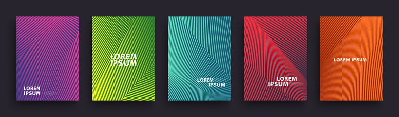 Simple Modern Covers Template Design. Set of Minimal Geometric Halftone Gradients for Presentation, Magazines, Flyers, Annual Reports, Posters and Business Cards. Vector EPS 10