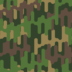 Military background. Army pattern. Hunter texture. Protective ornament. Vector illustration