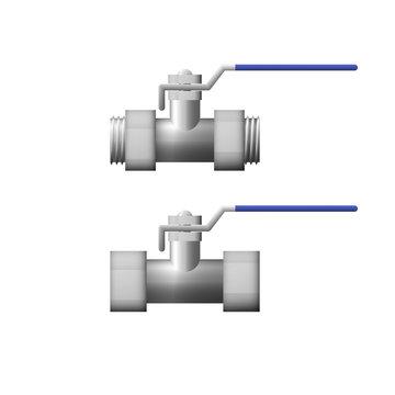 Steel shutoff valve.