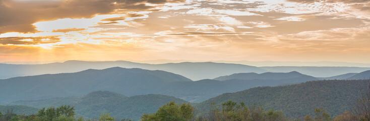 Sunset over Shenandoah National Park Wall mural