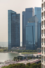 Papiers peints Chicago Cityscape and skyline of Singapore during the day